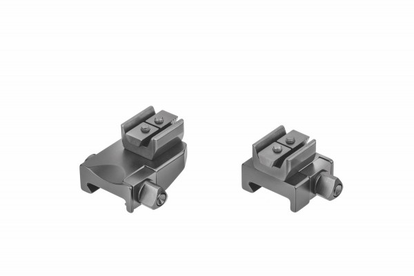 Recknagel Aufkippmontage, 45°-Aufnahmeprismen für Picatinny-/Weaver - 15mm verlängerte Ausführung