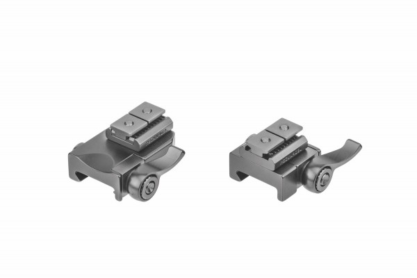 Recknagel Aufkippmontage, Swarovski SR und Klemmhebel, Picatinny-/Weaver - 15mm verlängert