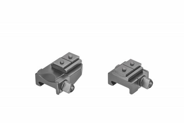 Recknagel Aufkippmontage, S&B-Convex-Schiene für Picatinny-/Weaver - 15mm verlängerte Ausführung