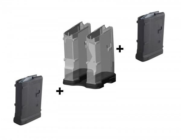 gunmania Magazinkoppler inkl. Parallelverbinder (Add-On) + 2x Magpul Magazine - Set