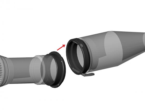 gunmania Zielfernrohr Adapter / Montage von Wärmebildkamera- / Nachtsichtvorsatzgerät