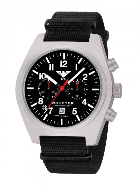 KHS Inceptor Steel, Quarz Chronograph mit Stoppfunktion