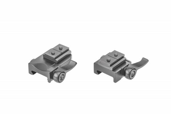 Recknagel Aufkippmontage, S&B-Convex-Schiene und Klemmhebel, Picatinny-/Weaver - 15mm verlängert
