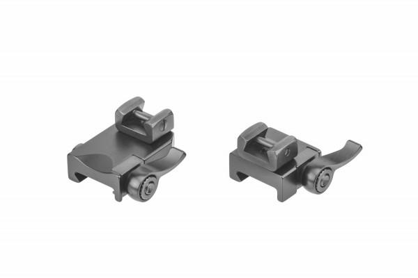 Recknagel Aufkippmontage, 70°-Aufnahmeprismen und Klemmhebel, Picatinny-/Weaver - 15mm verlängert